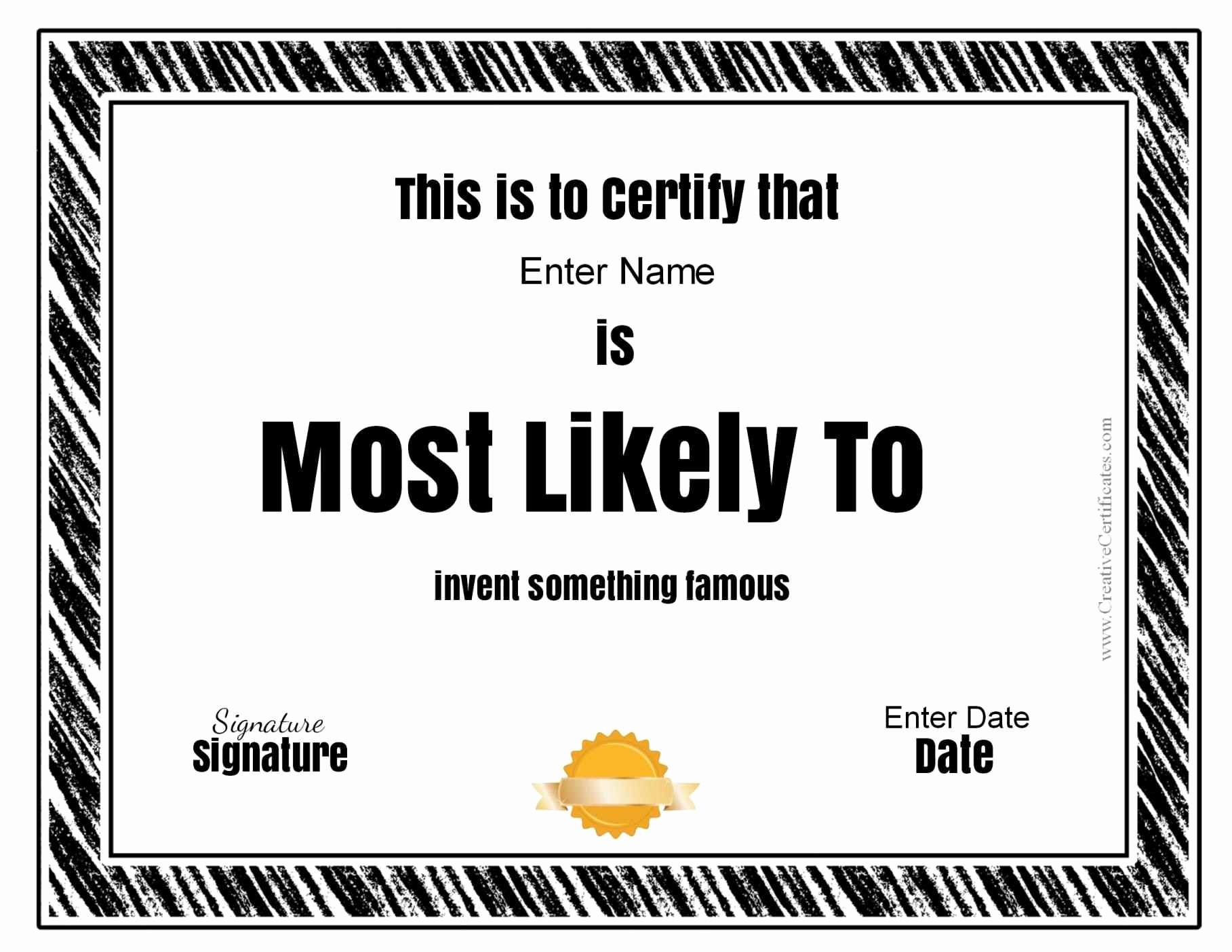 Most Likely to Awards Template Beautiful Funny soccer Awards Template Update234 Template