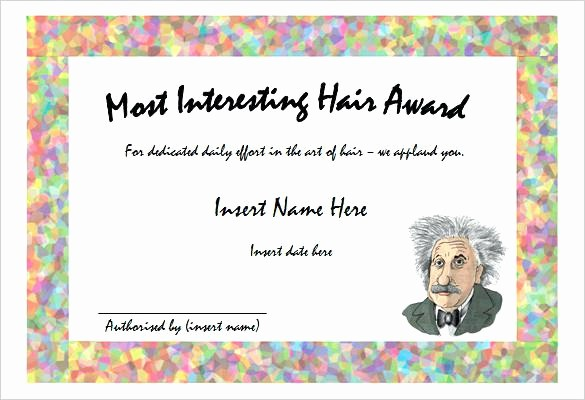 Most Likely to Awards Template Beautiful Mock Certificate Template Best Award Templates Free Ideas