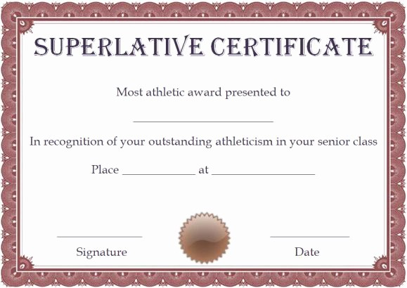 Most Likely to Awards Template Elegant Superlative Certificate Template 10 Certificate Designs