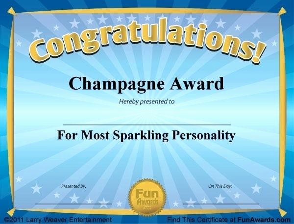 Most Likely to Awards Template Inspirational Mock Certificate Template Best Award Templates Free Ideas
