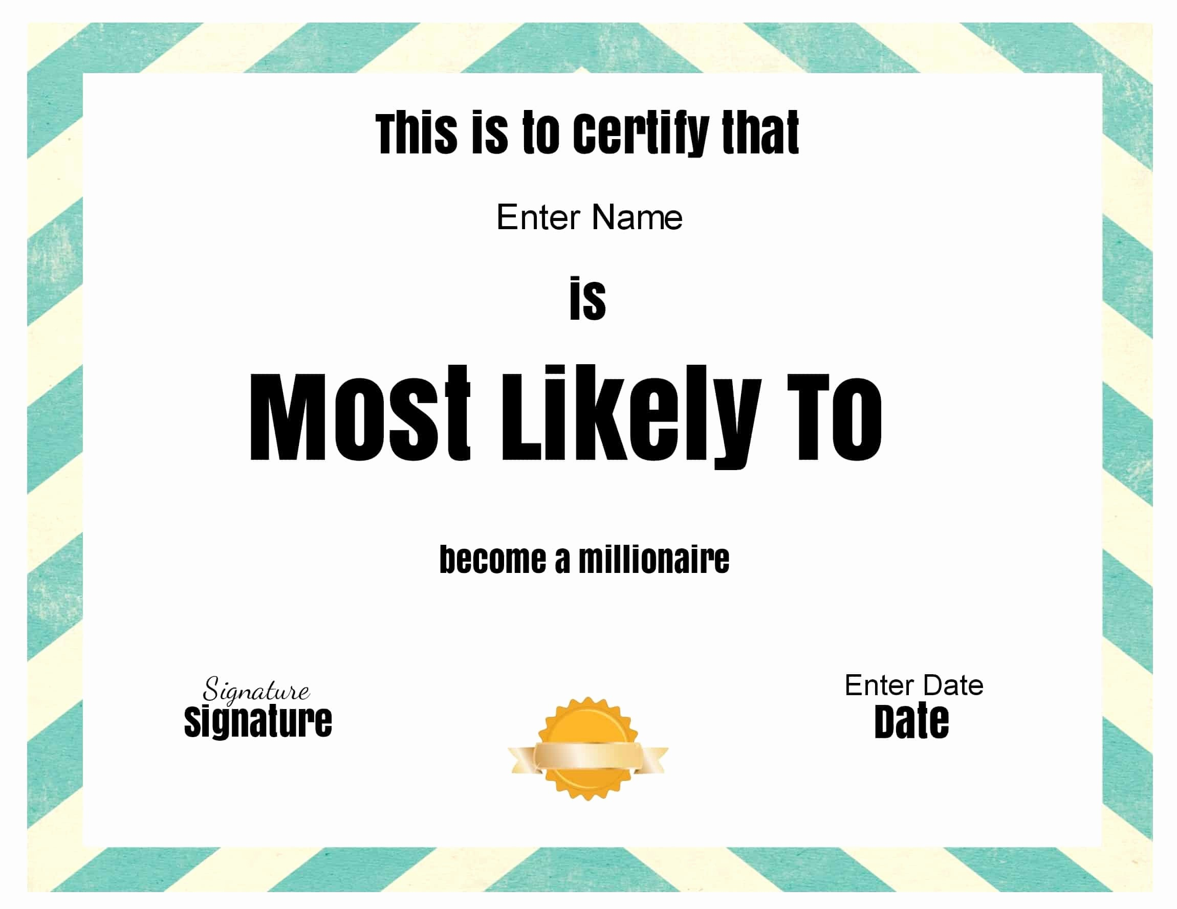 """Most Likely to Awards Template Luxury Free Customizable """"most Likely to Awards"""""""