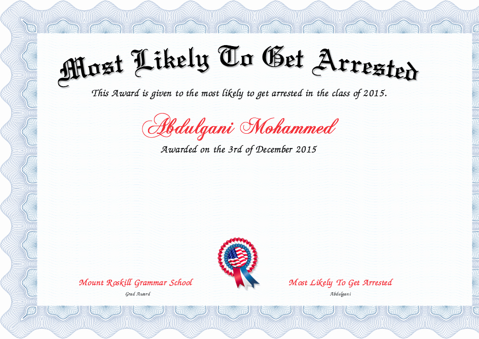 Most Likely to Awards Template New Classroom Awards Templates Idealstalist