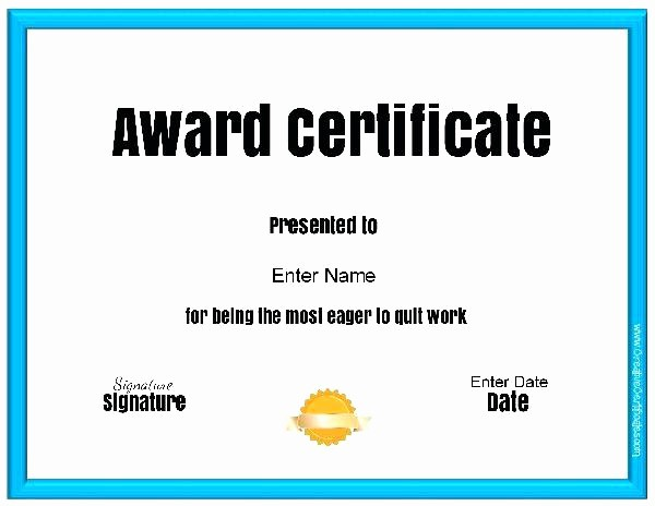 Most Likely to Awards Template New Mock Certificate Template Best Award Templates Free Ideas