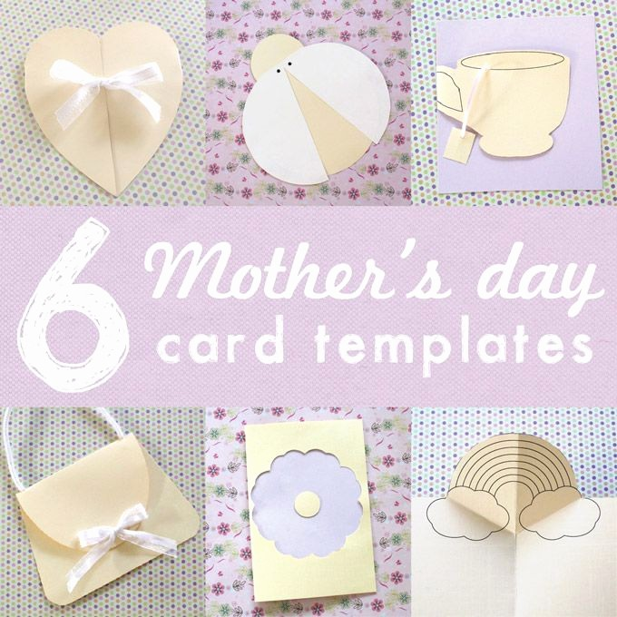Mother Day Card Templates Free Beautiful 6 Printable Mothers Day Card Templates for Kids