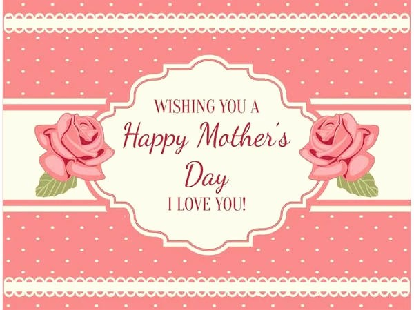 Mother Day Card Templates Free Beautiful 9 Free Mothers Day Cards