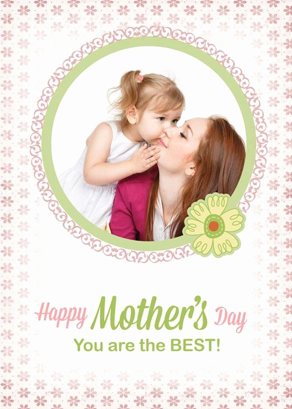 Mother Day Card Templates Free Beautiful Free Custom Mothers Day Card Template In Psd format