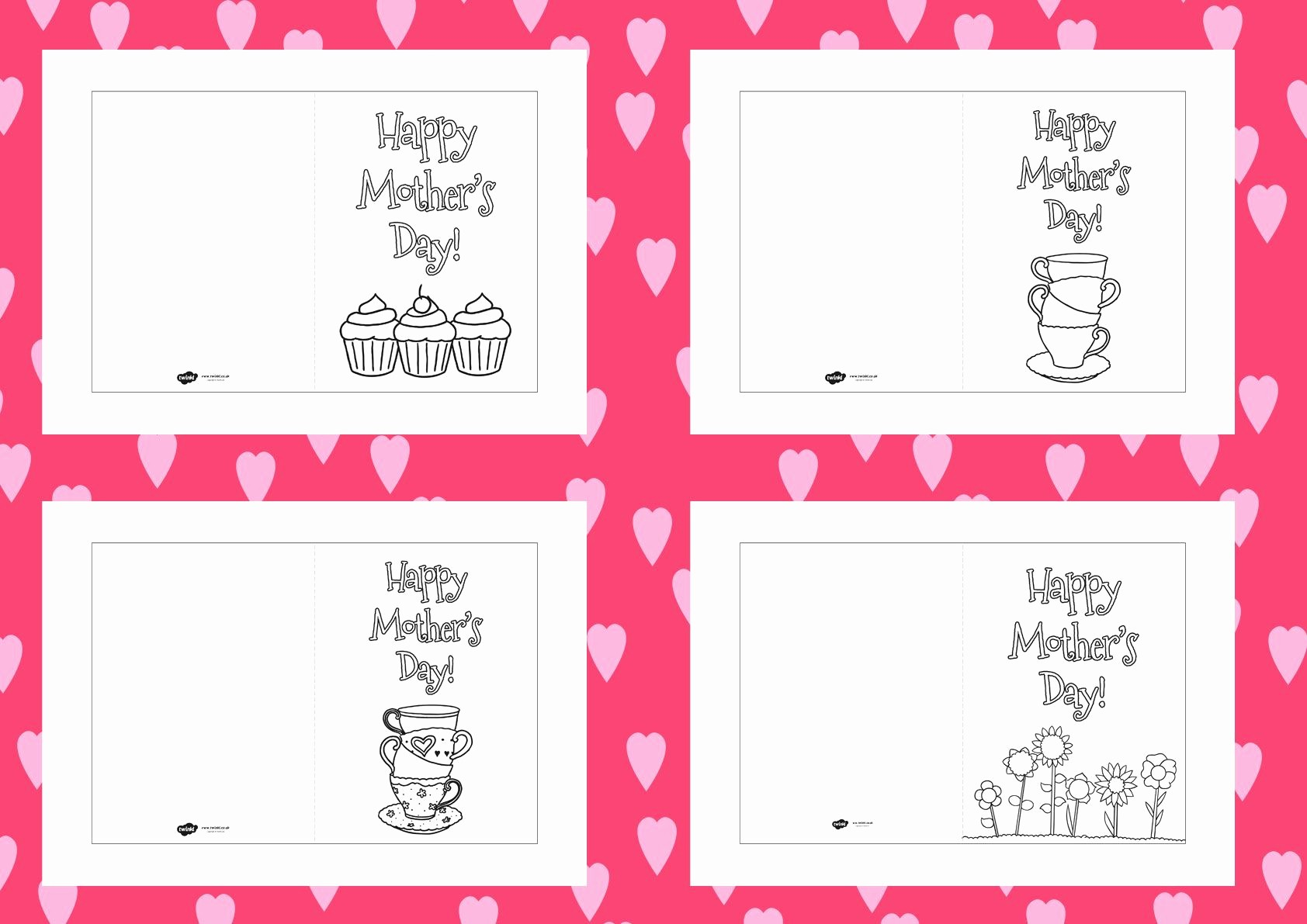Mother Day Card Templates Free Beautiful Twinkl Resources Mother S Day Colouring Cards Templates