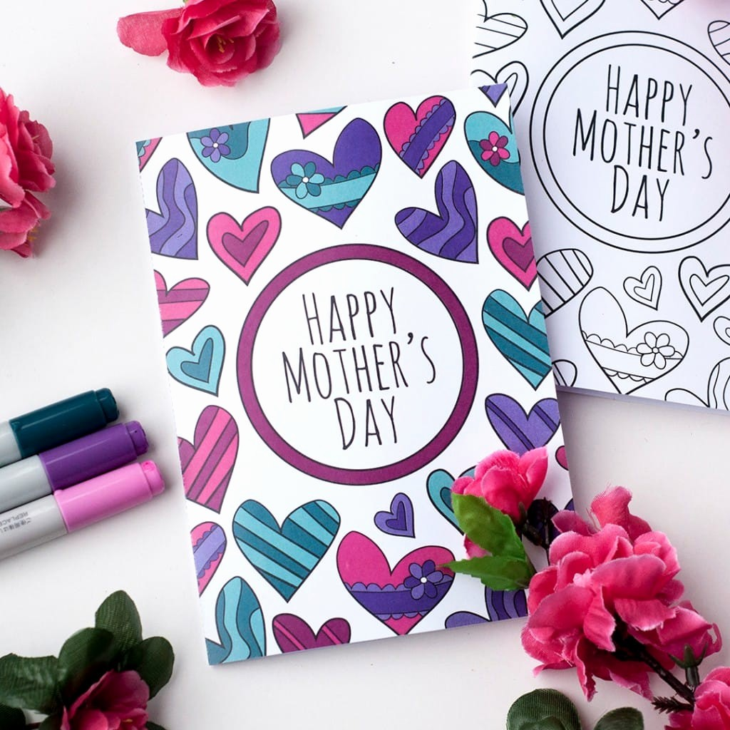 Mother Day Card Templates Free Fresh Free Mother S Day Coloring Card Sarah Renae Clark