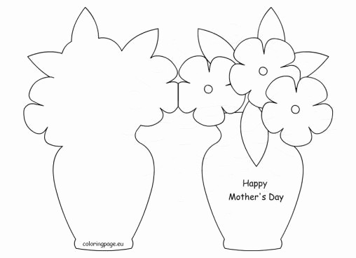 Mother Day Card Templates Free Fresh Mother S Day Coloring Page