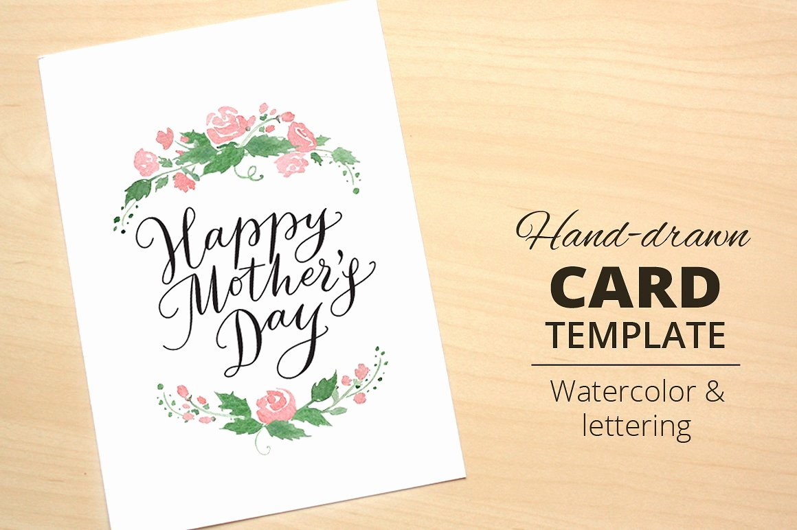 Mother Day Card Templates Free Inspirational Happy Mother S Day Card Template Card Templates