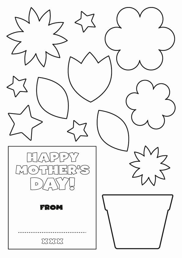 Mother Day Card Templates Free Luxury Flower Mothers Day Card Templates School