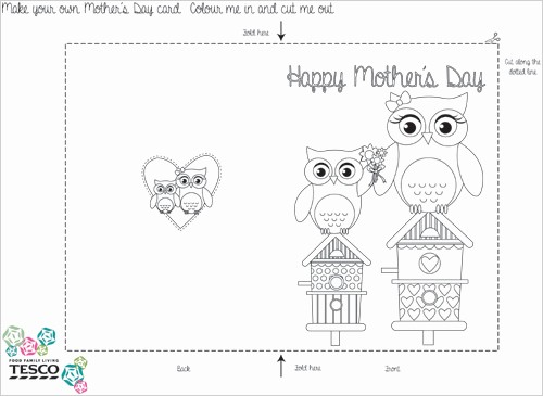 Mother Day Card Templates Free Luxury My Owl Barn Printable Mother S Day Coloring Card Templates