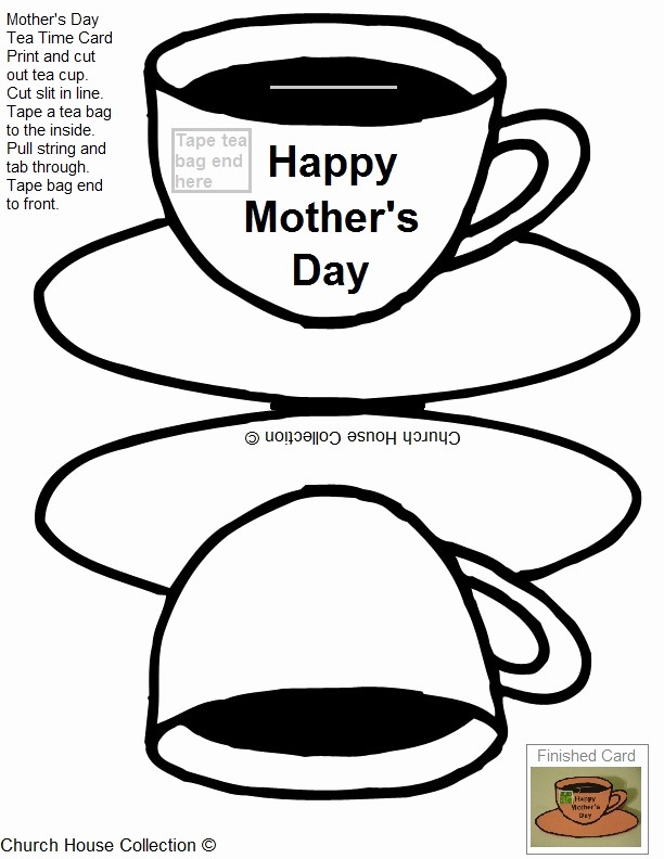 Mother Day Card Templates Free Luxury Printable Mother S Day Tea Card