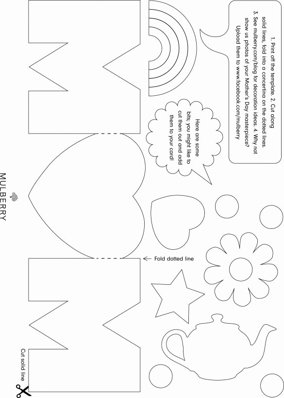 Mother Day Card Templates Free New Mothers Day Card Template Print Print Print