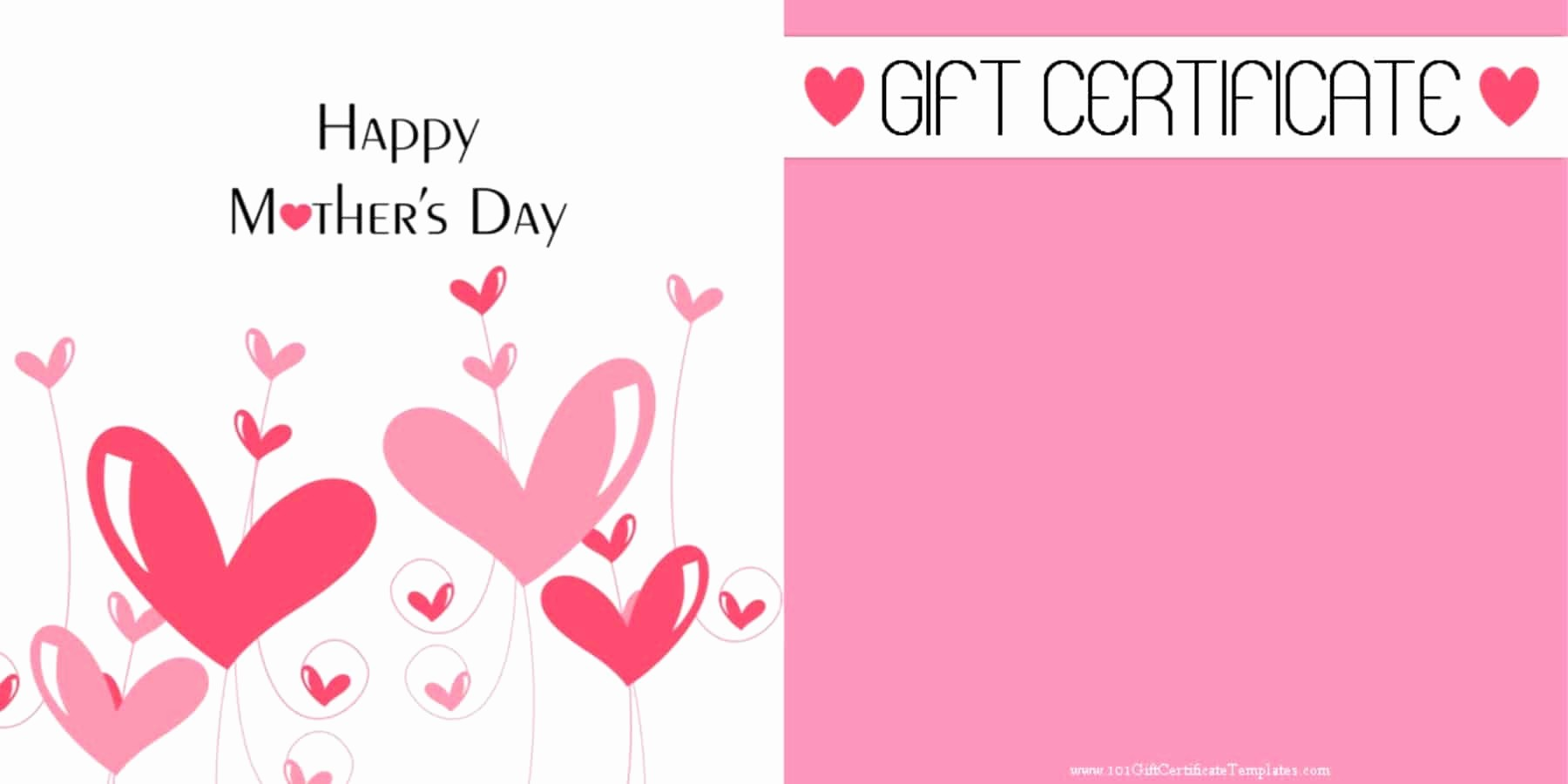 Mother Day Card Templates Free Unique Mother S Day Gift Certificate Templates
