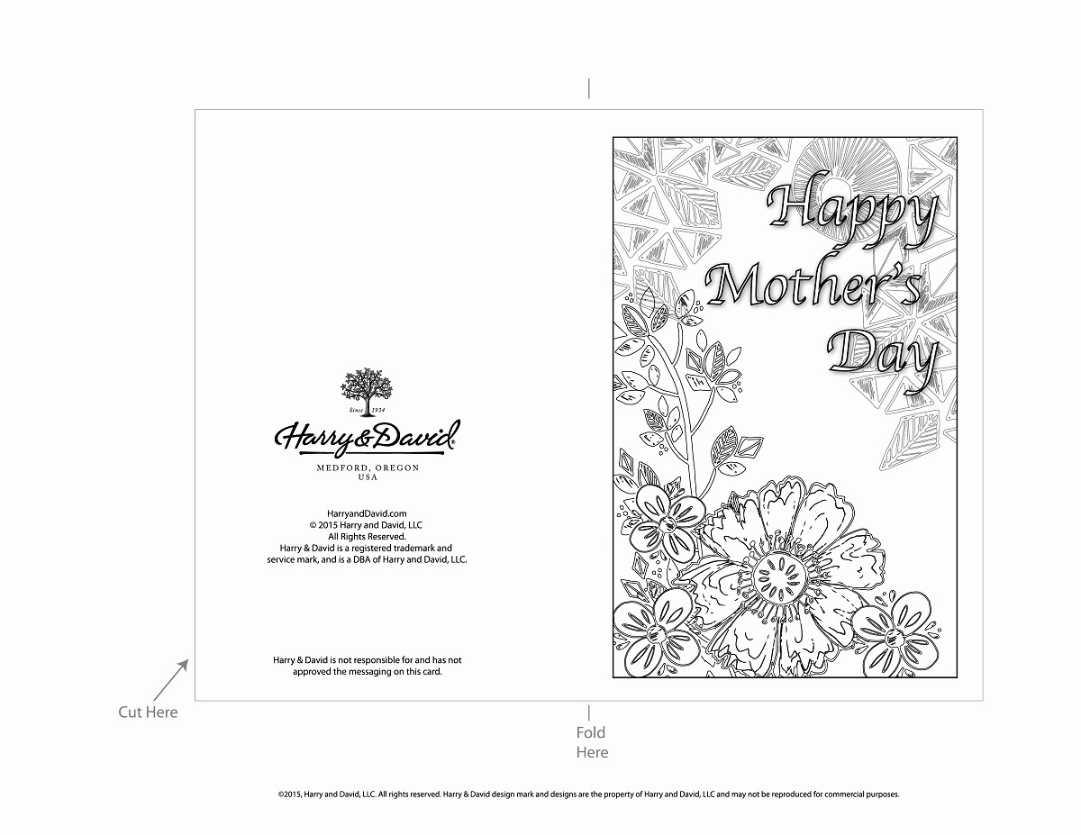 Mother Day Card Templates Free Unique Printable Mother S Day Cards