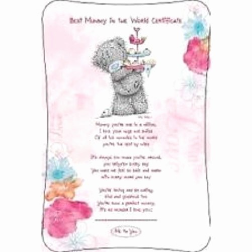 Mother's Day Card From Baby Elegant Variety Me to You Tatty Teddy Plush Bears & Gifts Mum