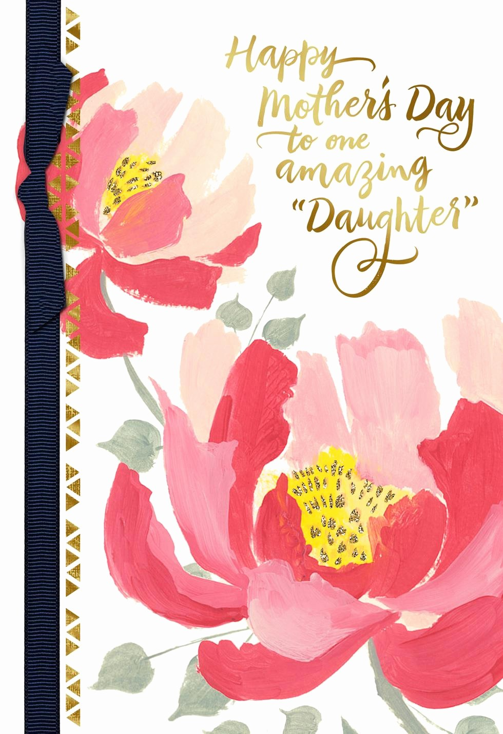 Mother's Day Card From Baby Fresh Painted Pink Flowers Like A Daughter Mother S Day Card