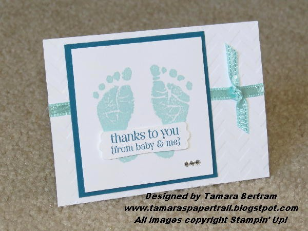 Mother's Day Card From Baby Fresh Tamara S Paper Trail Baby Prints Thank You