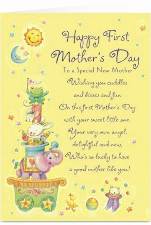 Mother's Day Card From Baby Lovely First Mother S Day Quote Quotes