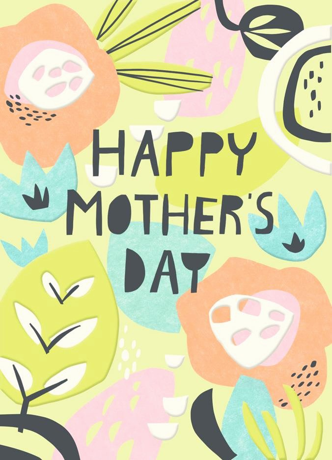 Mother's Day Card From Baby Lovely Paper Flowers Blank Mother S Day Card Greeting Cards