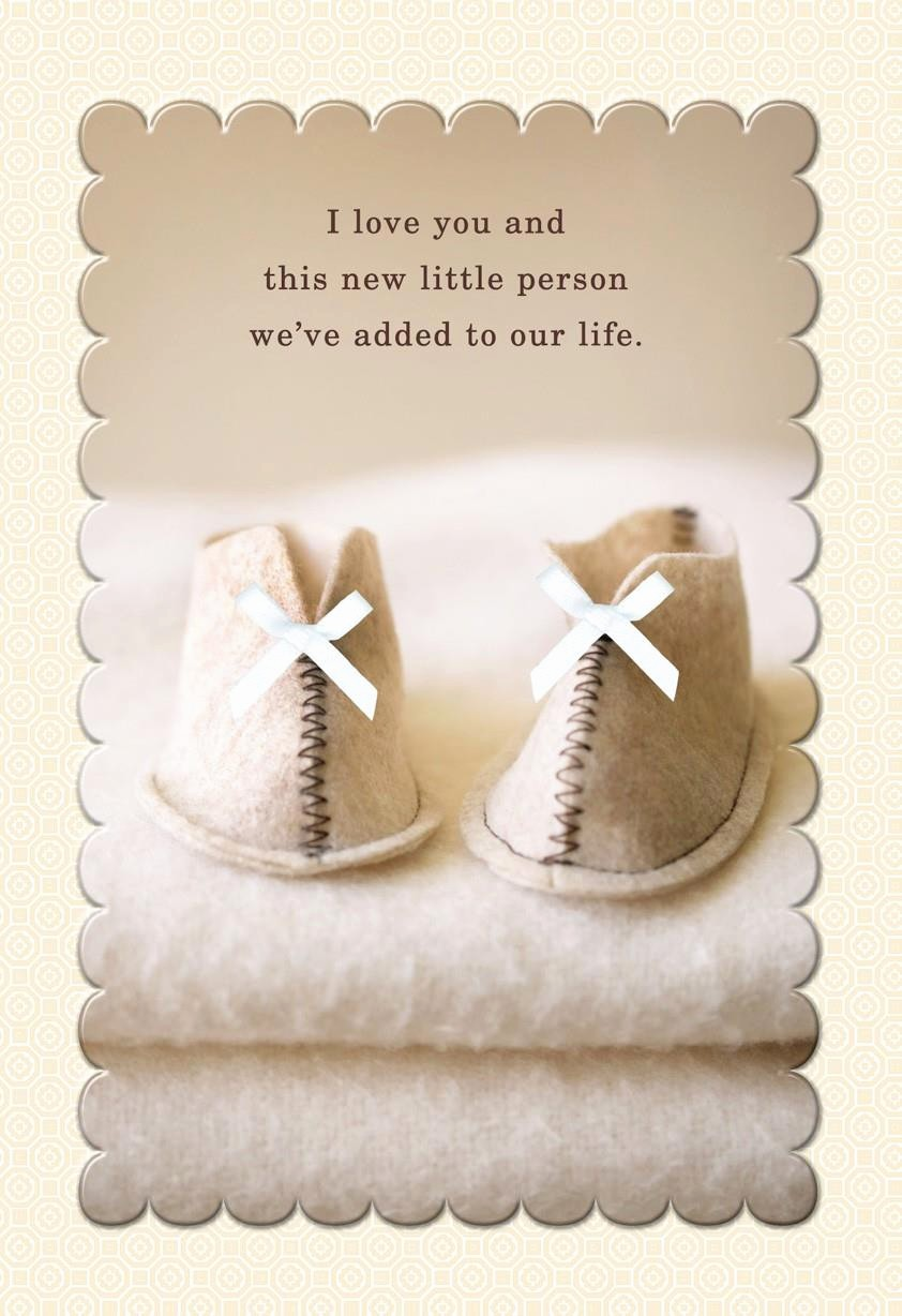 Mother's Day Card From Baby New Baby Booties First Mother S Day Card for Wife Greeting
