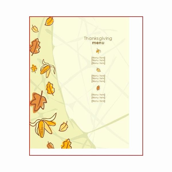 Mother's Day Menu Template Word Awesome Great Thanksgiving Day Menu Templates to Entice and