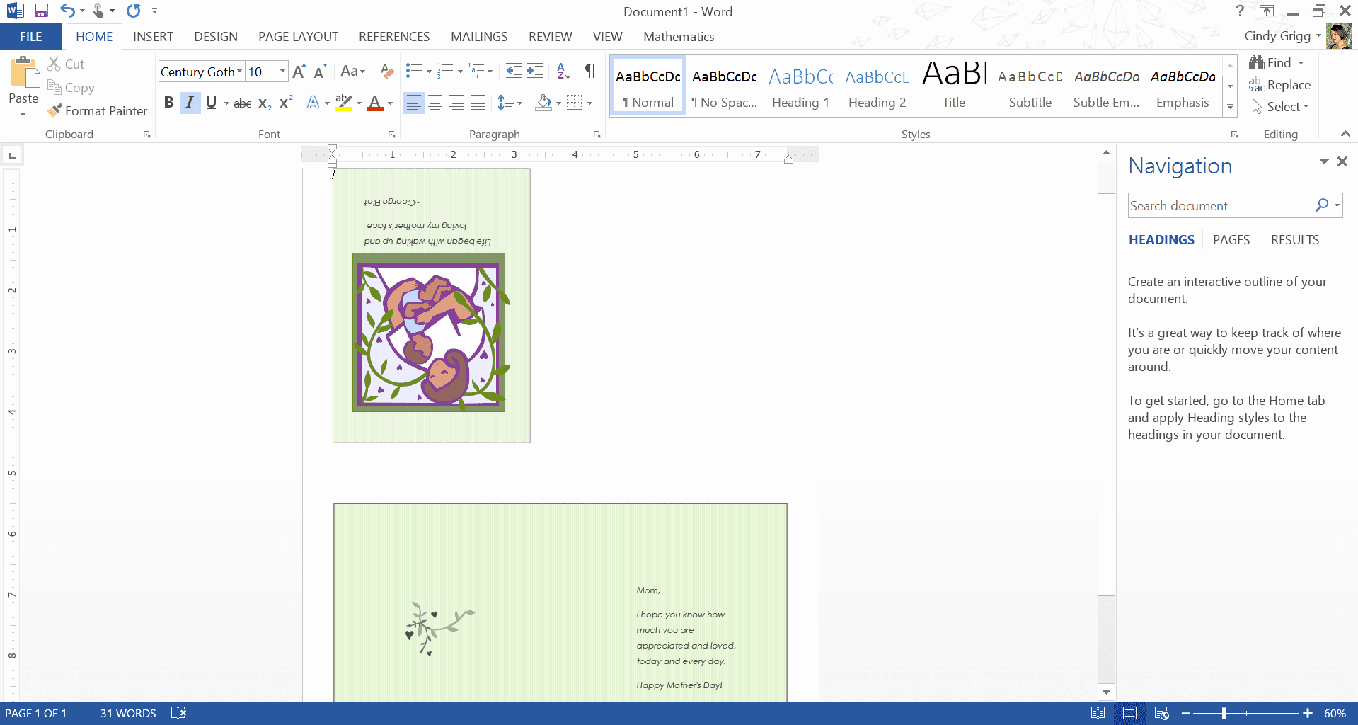 Mother's Day Menu Template Word Lovely Mother S Day Templates for Microsoft Fice