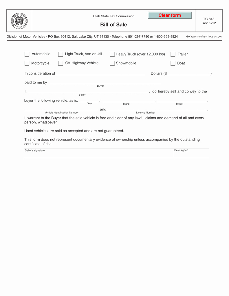 Motorcycle Bill Of Sale Example Fresh Bill Of Sale form Template Vehicle [printable]