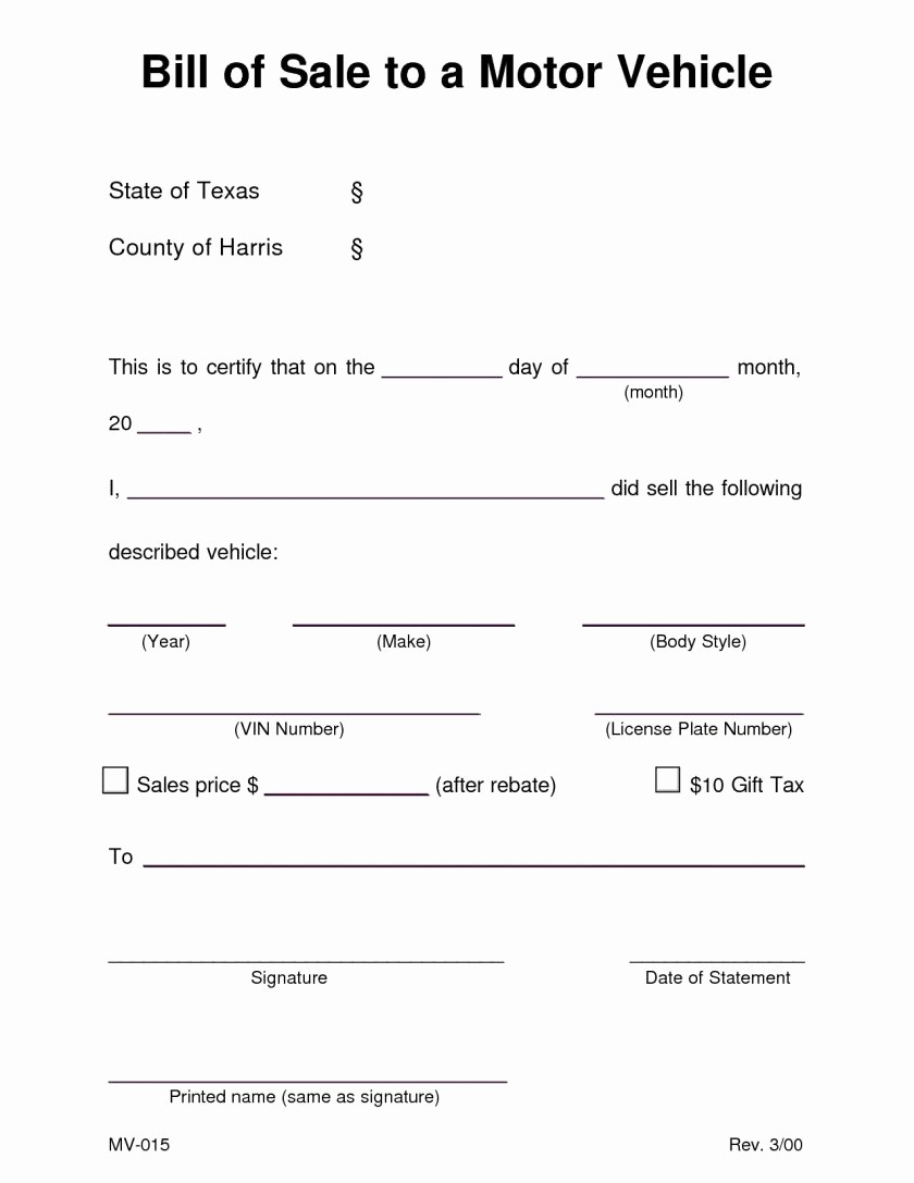 Motorcycle Bill Of Sale Example Fresh Motorcycle Bill Sale Template