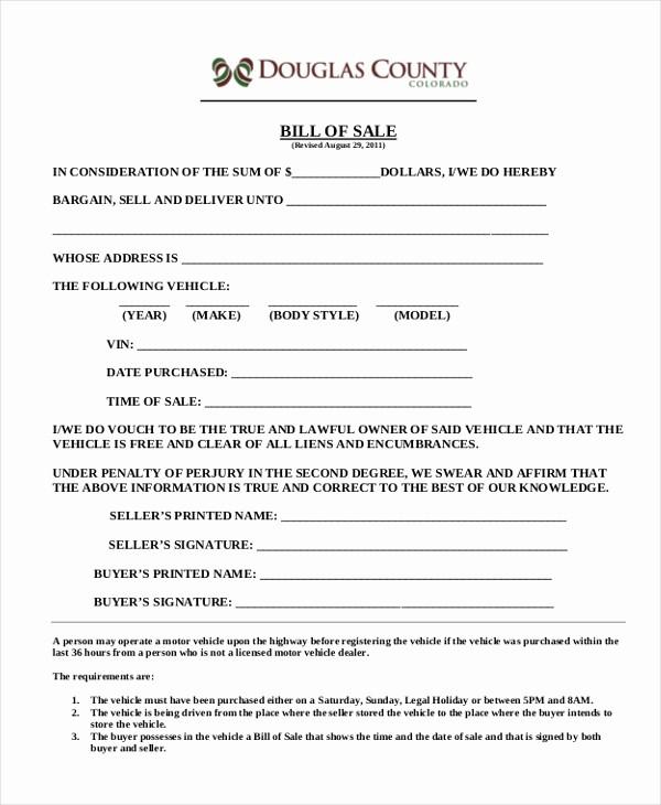 Motorcycle Bill Of Sale Example Luxury Sample Motorcycle Bill Of Sale form 7 Free Documents In
