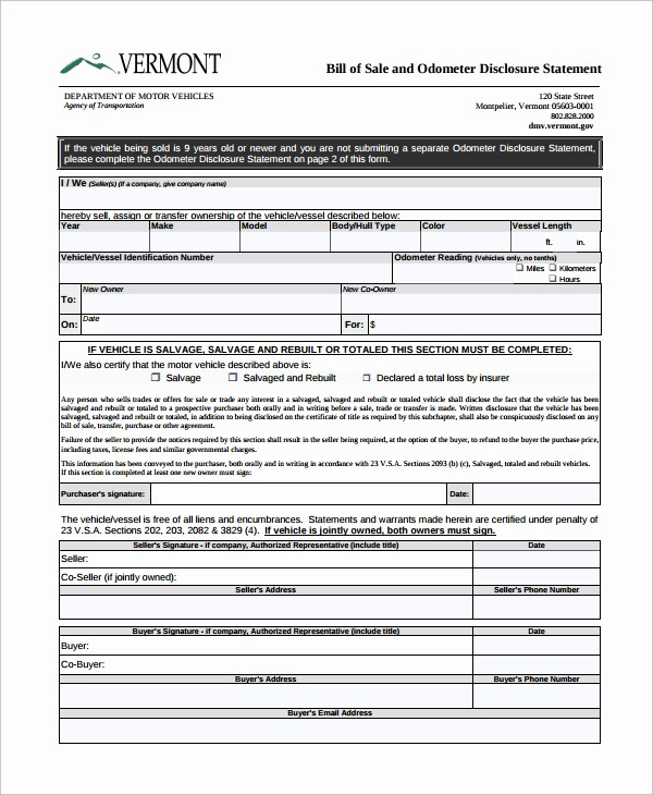 Motorcycle Bill Of Sale Printable Unique 8 Motorcycle Bill Of Sale Templates