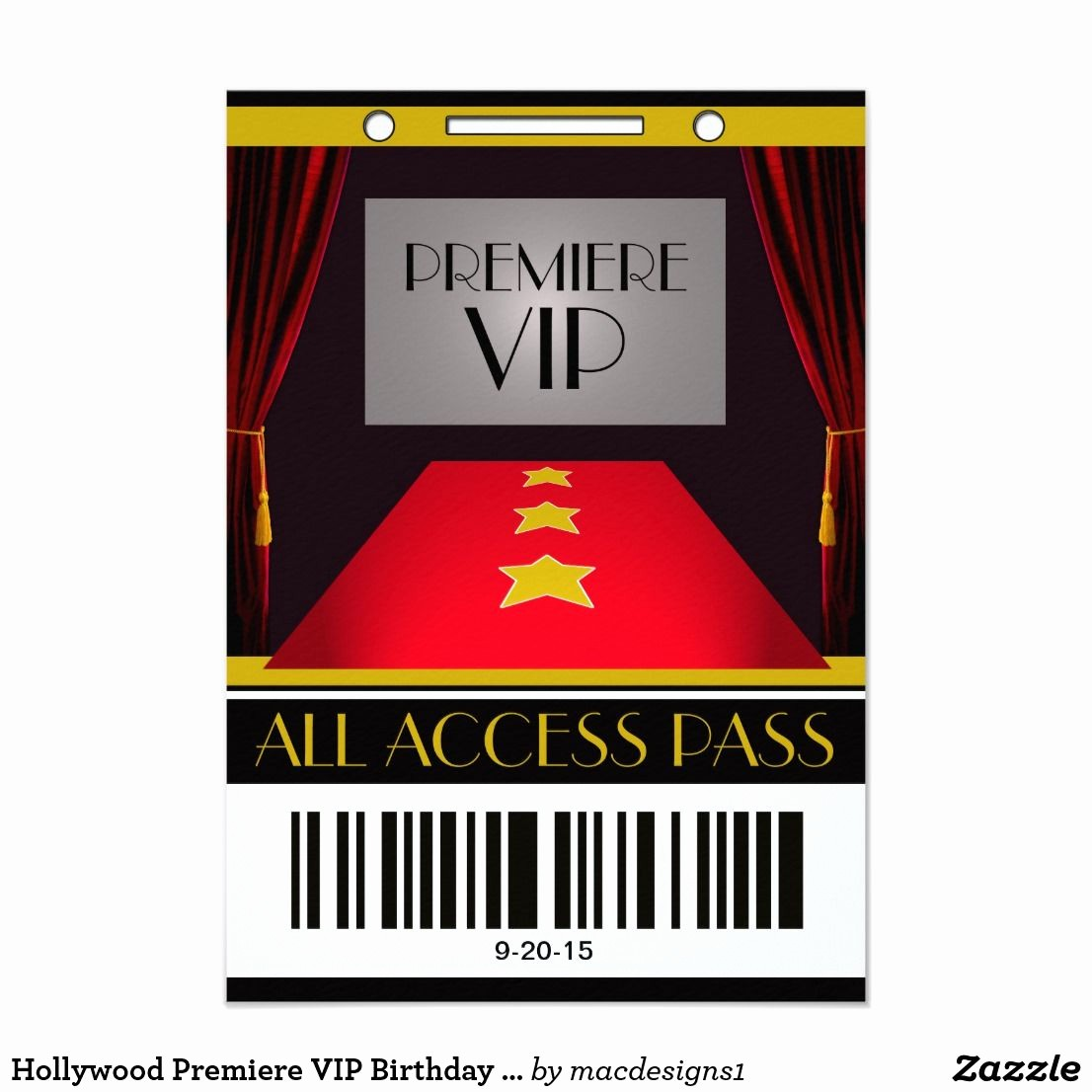 Movie Premiere Invitation Template Free Beautiful Hollywood Premiere Vip Birthday Party Card