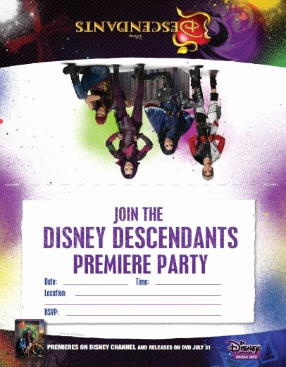 Movie Premiere Invitation Template Free Best Of Disney Descendants Dolls Backpacks Jewelry Costumes
