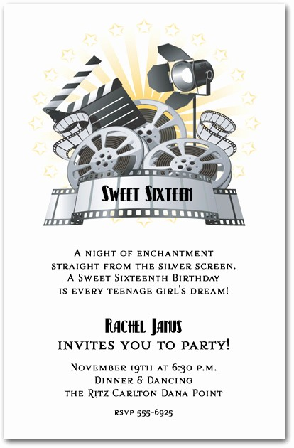 Movie Premiere Invitation Template Free Best Of Movie and Clapboard Invitations
