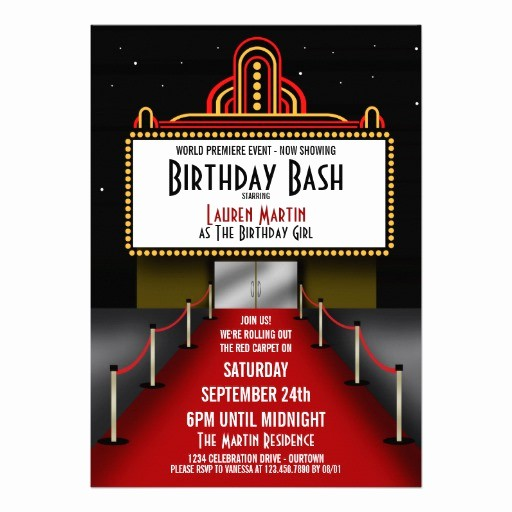 Movie Premiere Invitation Template Free Elegant Personalized Celebrity Invitations