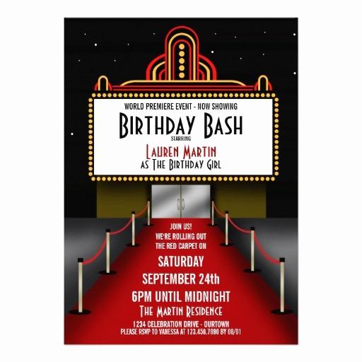 Movie Premiere Invitation Template Free Elegant Personalized Celebrity Invitations