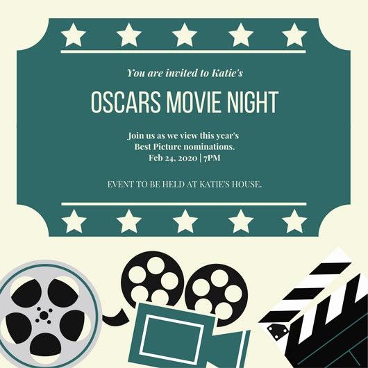 Movie Premiere Invitation Template Free Fresh Customize 646 Movie Night Invitation Templates Online Canva