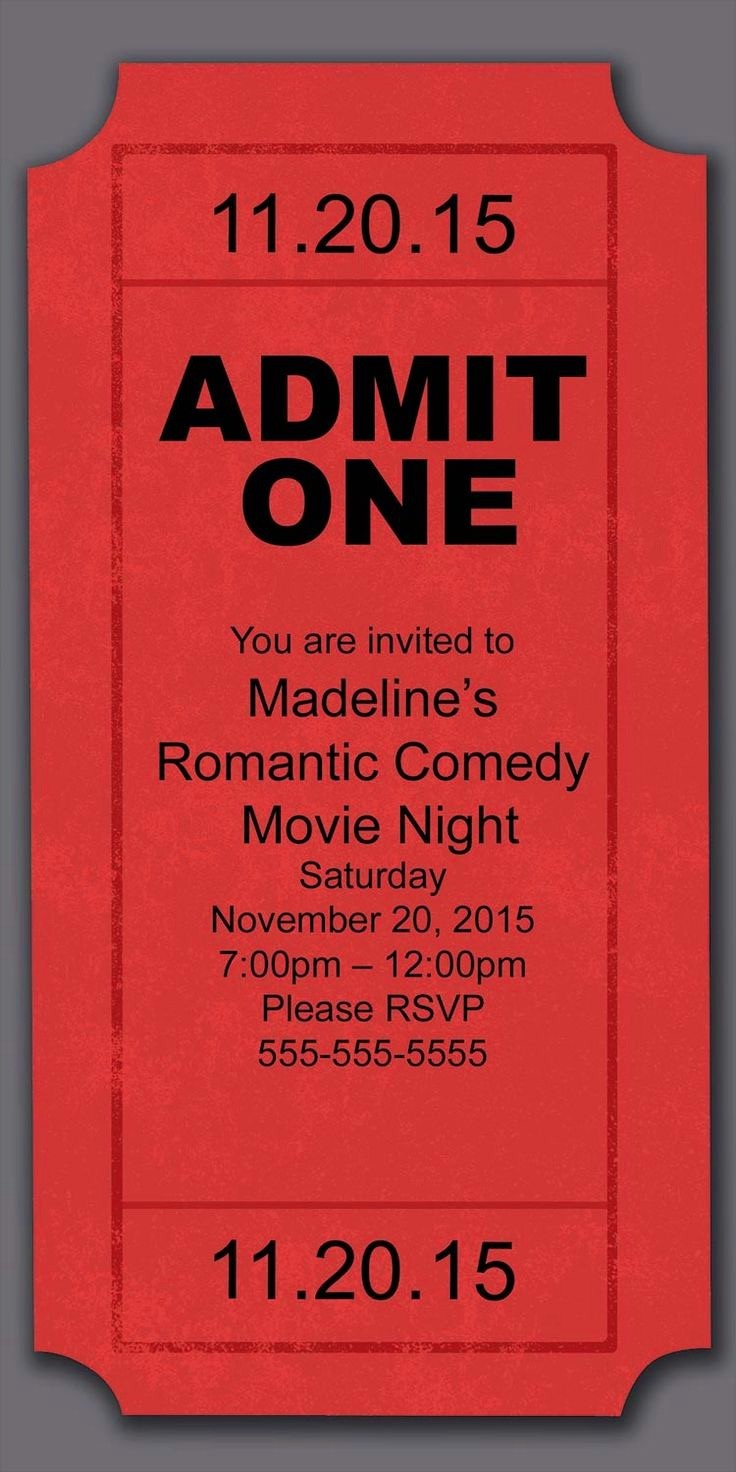 Movie Premiere Invitation Template Free Inspirational Admit E Template Example Mughals