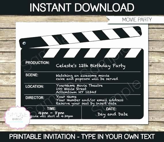 Movie Premiere Invitation Template Free Inspirational Golden Ticket Template Word Document theatre Free Download
