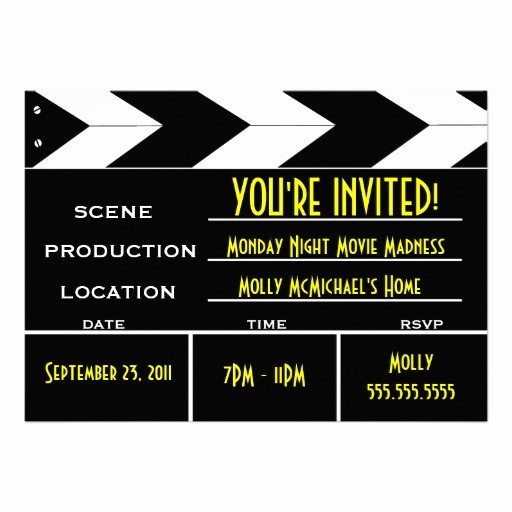 Movie Premiere Invitation Template Free Inspirational Movie Clappers Clipart Best