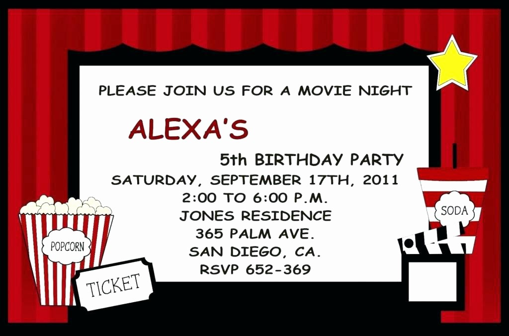 Movie Premiere Invitation Template Free Inspirational Movie Invitations – orgul Gbt