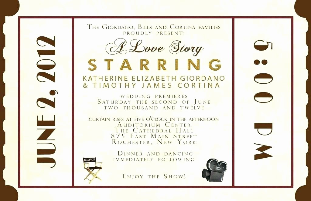 Movie Premiere Invitation Template Free Inspirational theater Invitation Template Movie Premiere theatre