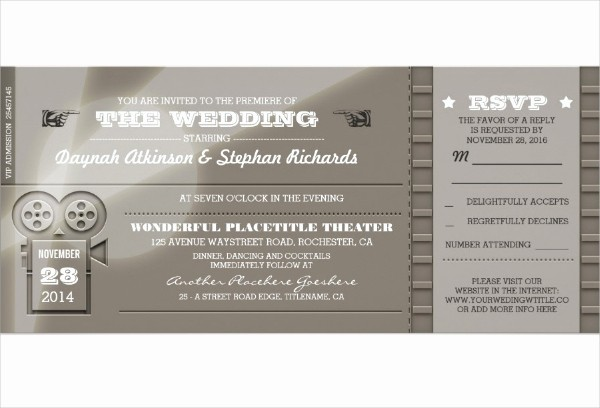 Movie Premiere Invitation Template Free Lovely 13 Cinema Invitation Designs & Templates Psd Ai