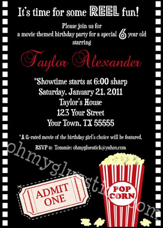 Movie Premiere Invitation Template Free Luxury Items Similar To