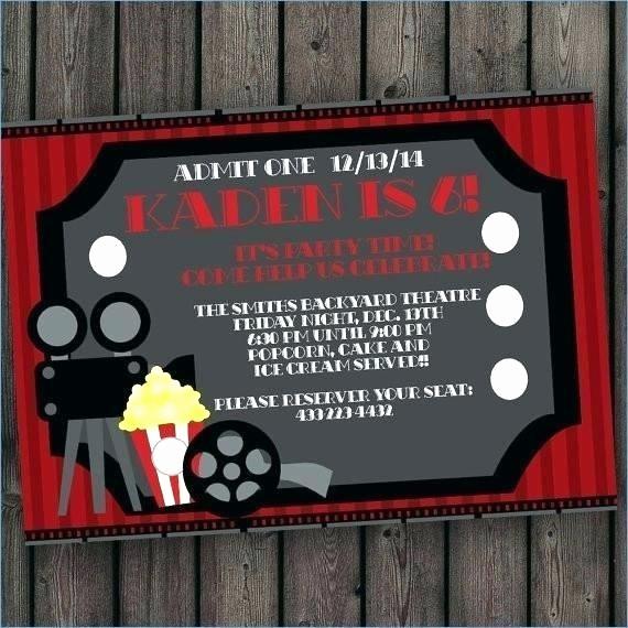 Movie Premiere Invitation Template Free Luxury theatre Party Invitation Templates Movie Premiere Template