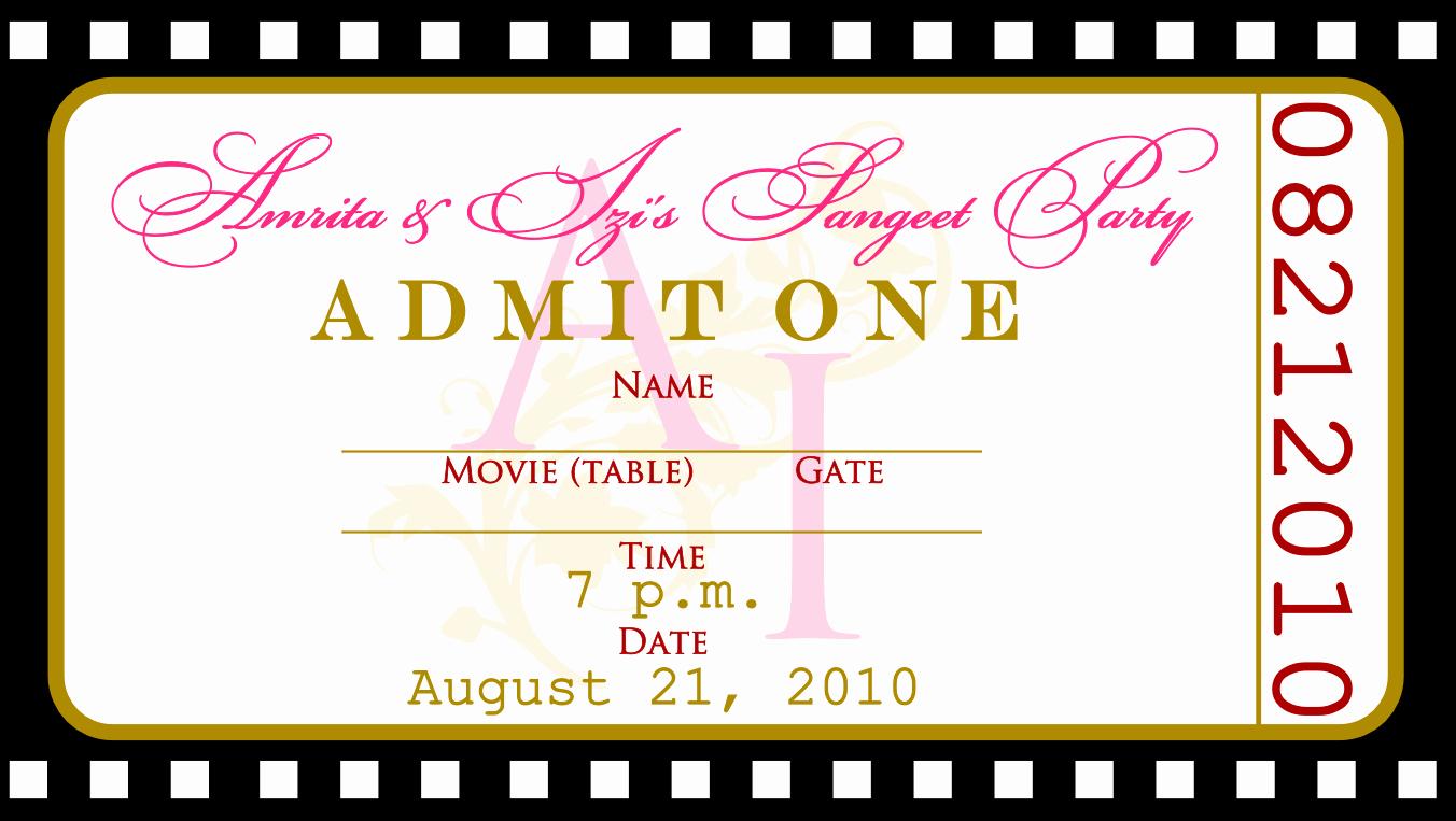 Movie Premiere Invitation Template Free New Free Birthday Invitations Templates