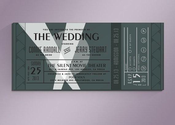 Movie Premiere Invitation Template Free Unique Diy Vintage Movie Premiere Ticket Wedding by Noblesthart