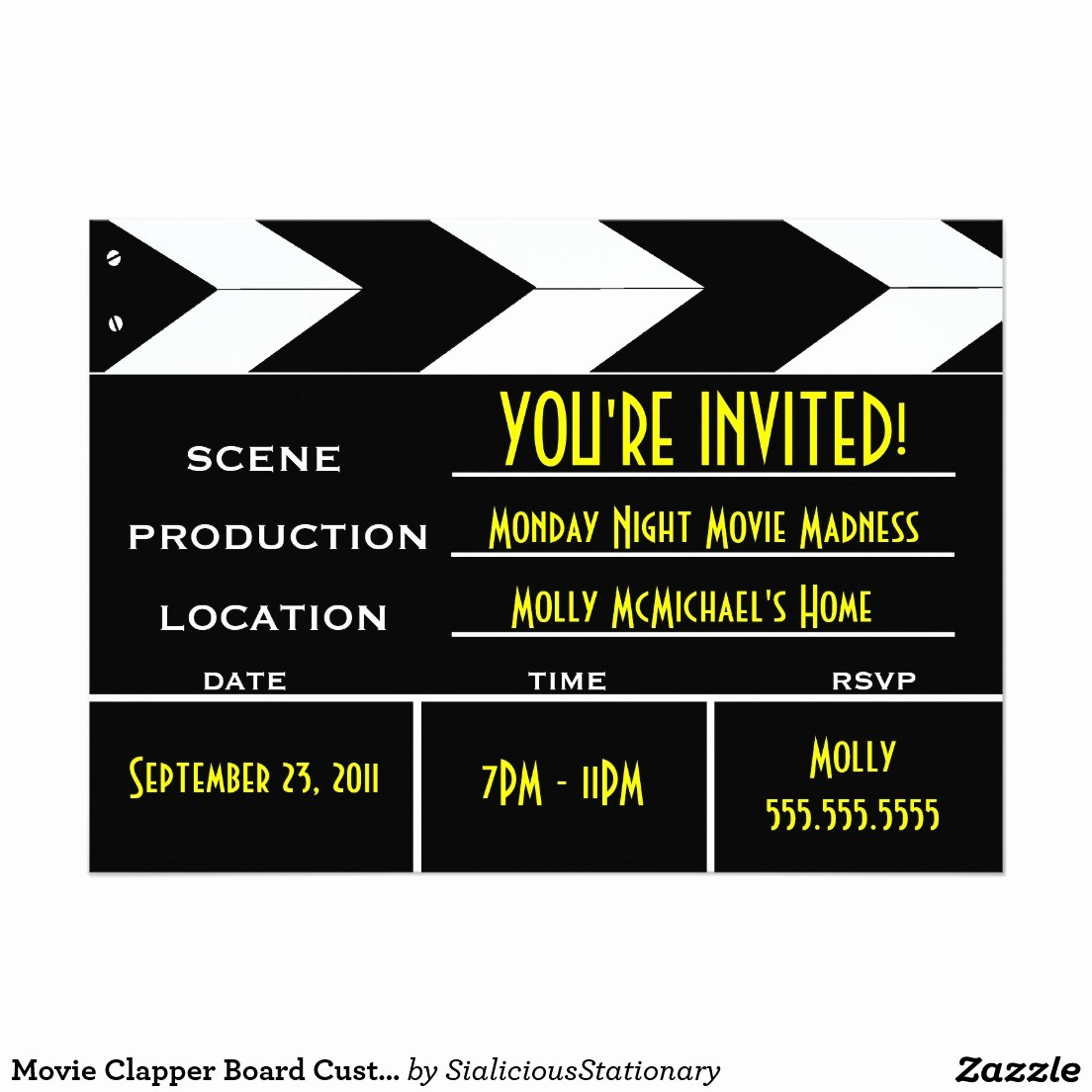 Movie Premiere Invitation Template Free Unique Movie Premiere Invitation