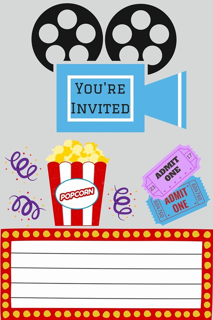 Movie themed Invitation Template Free Awesome Best 25 Movie Party Invitations Ideas On Pinterest